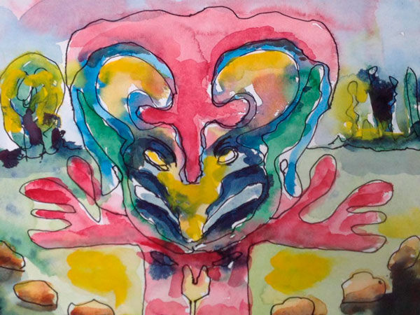 Abstracte Aquarel